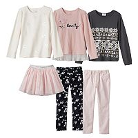 Girls 4-6x SONOMA Goods for Life™ Pink Holiday Mix & Match Outfits