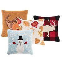 Decor 140 Holiday Hooked Throw Pillow Collection