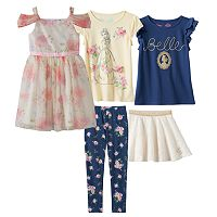 Disney's Beauty & the Beast Girls 4-7 Floral Belle Mix & Match Outfits