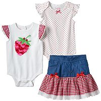 Baby Girl Nannette Strawberry Mix & Match Outfits