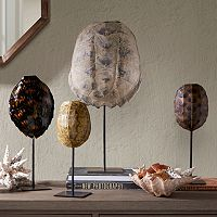 Madison Park Signature Artificial Turtle Shell Table Decor Collection