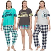 Juniors' Plus Size SO® Naptime Squad Pajama Separates