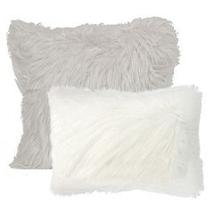 Angora Faux Fur Throw Pillow Collection by