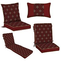 Bombay® Outdoors Geo Floral Reversible Cushion & Pillow Collection