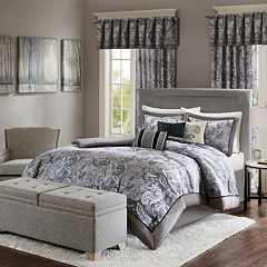 Madison Park Elsa Charcoal Duvet Collection by