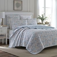Laura Ashley Lifestyles Coral Sea Quilt Collection