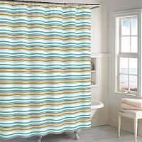 Destinations Sea Stripe Shower Curtain Collection