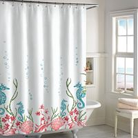 Destinations Sea Horse Shower Curtain Collection