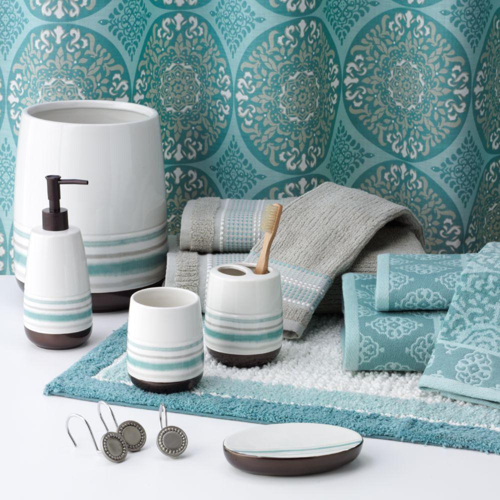 aqua bathroom accessories home design ideas  kristybaby, Bathroom decor