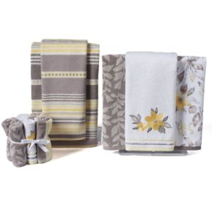 One Home Taylor Floral Stripe Bath Towel Collection