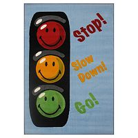 <strong>Fun Rugs&trade; Smiley World Traffic Signal Rug</strong>