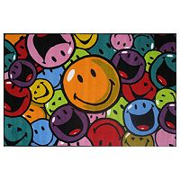 <strong>Fun Rugs&trade; Smiley World Smiles &amp; Laughs Rug</strong>