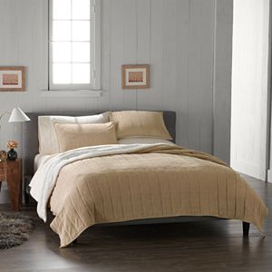 Cuddl Duds Cozy Soft Corduroy Quilt Collection