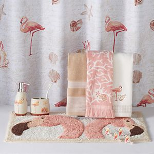 Saturday Knight, Ltd. Coral Gables Flamingo Shower Curtain Collection