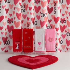 Celebrate Valentine's Day Together XOXO Shower Curtain Collection