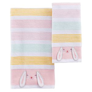Celebrate Easter Together Bunny Stripe Bath Towel Collection