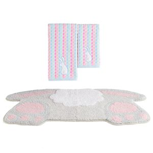Celebrate Easter Together Bunny Tail Bath Towel & Rug Collection