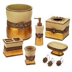 Click here to buy Avanti Braided Medallion Bathroom Accessories Collection.