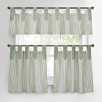 Park B. Smith Ticking-Stripe Tier Kitchen Curtains