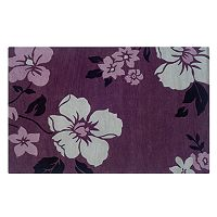 Linon Home Decor Trio with a Twist Floral Rug