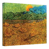 ''Evening Landscape with Rising Moon'' Canvas Wall Art by Vincent van Gogh