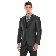 Savile Row Modern-Fit Charcoal Sharkskin Suit Separates Men