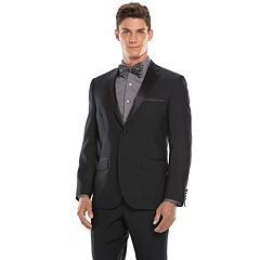 Savile Row Modern-Fit Black Suit Separates Men