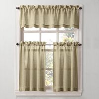 SONOMA Goods for Life™ Ayden Linen Blend Tier Kitchen Curtains