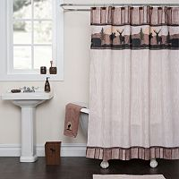 Saturday Knight, Ltd. Silhouette Wildlife Shower Curtain Collection