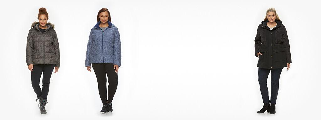 Womens Plus Coats, Jackets