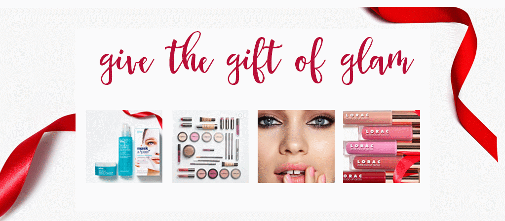 give the gift of glam, makeup gifts