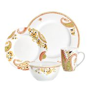 Rachael Ray Orange and Green 4-pc. Place Setting