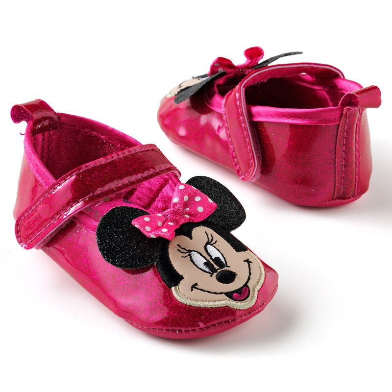 Disney Mickey Mouse and Friends Minnie Mouse Glittery Patent Mary Jane Shoes - Baby