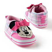 Disney Mickey Mouse and Friends Minnie Mouse Plaid Sneaker Shoes - Baby