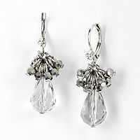 Simply Vera Vera Wang Two Tone Cluster Drop Earrings