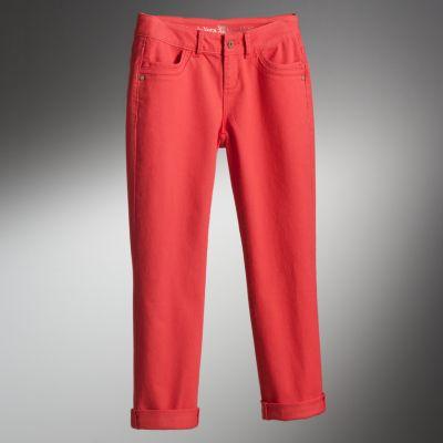 Simply Vera Vera Wang Cuffed Straight-Leg Crop Jeans