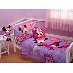 Disney's Minnie Mouse Minnie's Fluttery Friends 4 pc Bedding Set - Toddler