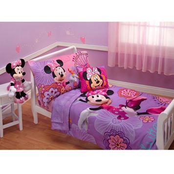 Disney's Minnie Mouse Minnie's Fluttery Friends 4-pc. Bedding Set - Toddler
