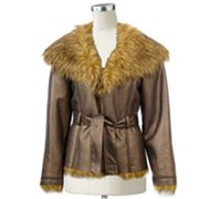 Excelled Embellished Faux-Shearling Jacket - Women's Plus