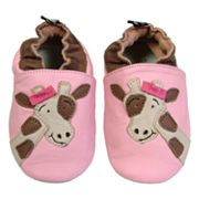 Baby Tommy Tickle Pink Giraffe Crib Shoes
