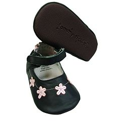 Baby Tommy Tickle Floral Mary Jane Crib Shoes
