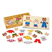 Melissa & Doug Wooden Bear Family Dress-Up