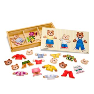 Melissa and Doug Wooden Bear Family Dress-Up