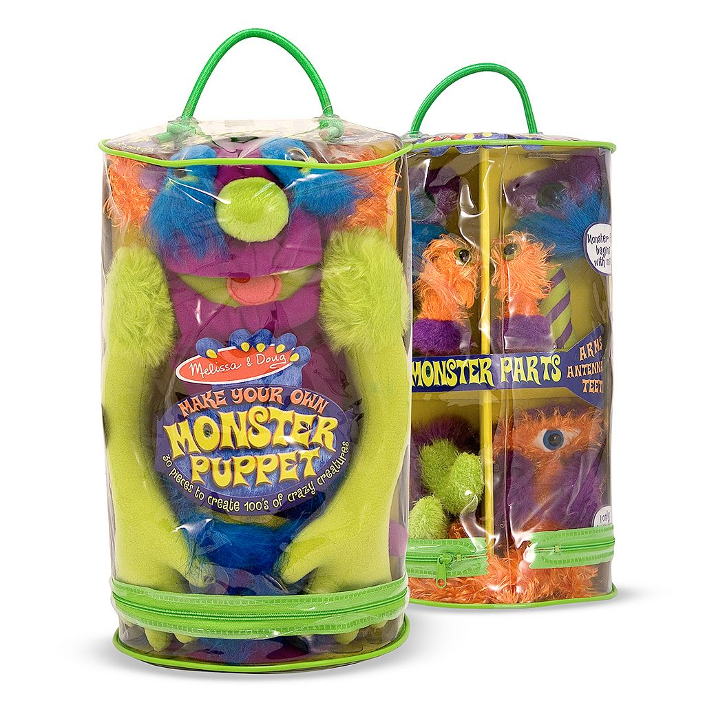 Melissa and Doug Make Your Own Monster Puppet Set