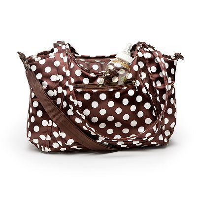 Kids Line Satin City Dot Carryall Diaper Bag
