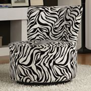 HomeVance Zebra Print Swivel Chair