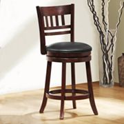 HomeVance Window-Back Swivel Counter Stool