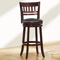 HomeVance Window-Back Swivel Bar Stool