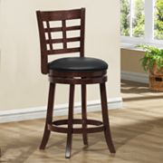 HomeVance Lattice-Back Swivel Counter Stool