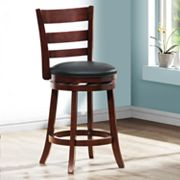 HomeVance Ladder-Back Swivel Counter Stool